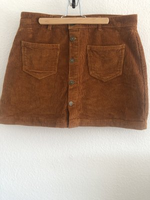 only blue denim Jupe skater cognac