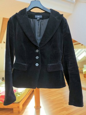 H&M Korte blazer zwart Katoen