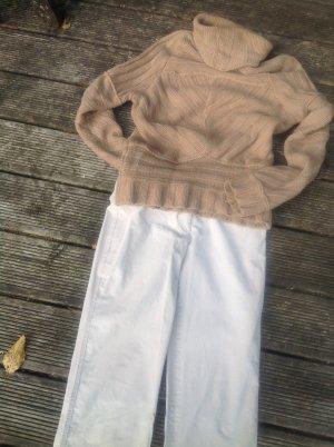 St. emile Pantalone di velluto a coste bianco sporco Cotone