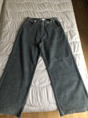 Pantalon en velours côtelé bleu azur
