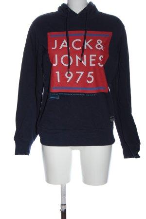 Core by jack & jones Hooded Sweatshirt printed lettering casual look