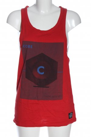 Core by jack & jones Tank Top red themed print casual look