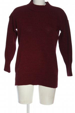 CORE Strickpullover rot Zopfmuster Casual-Look