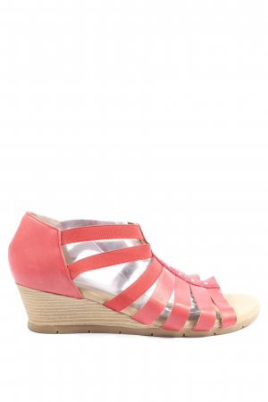 Corkies Sandales à plateforme rouge style décontracté