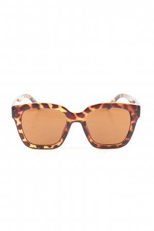 Angular Shaped Sunglasses brown-light orange animal pattern casual look