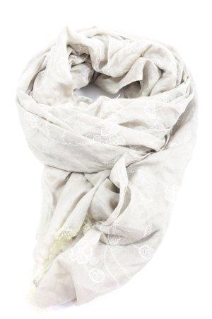 cornici Bufanda de seda gris claro look casual