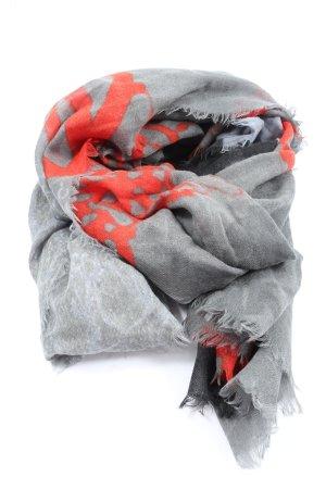 cornici Écharpe en laine gris clair-rouge style décontracté