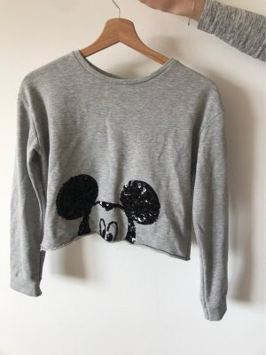 Corporate Pullover mit Mickey Mouse Pailletten