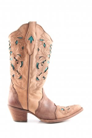 Western Boots brown-nude casual look