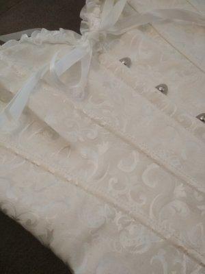 Gorset w kolorze białej wełny Tkanina z mieszanych włókien
