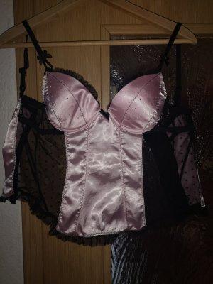 Corsage noir-rose clair