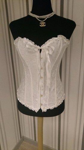 Corsage blanc tissu mixte