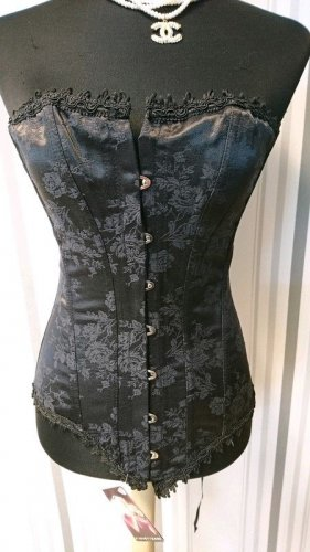 Corsage noir coton