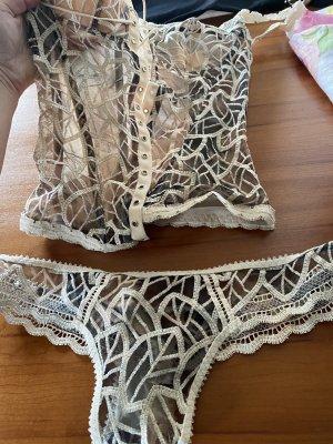 Set lingerie crema-nero