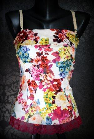 Dolce & Gabbana Corsage topje wolwit-rood Gemengd weefsel