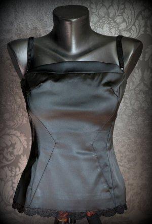 Dolce & Gabbana Top gorsetowy czarny Tkanina z mieszanych włókien