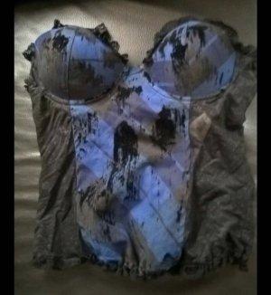 Corsage noir-bleu
