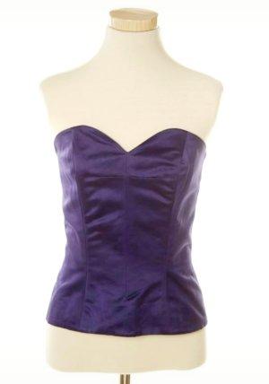 Celine Corsage Top lilac-dark violet cotton