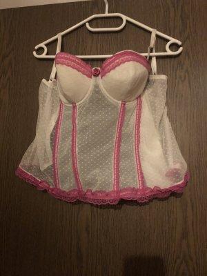 Corsage weiß/rosa