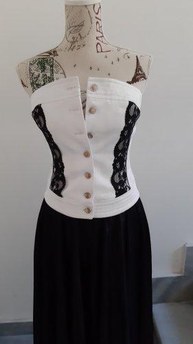 corsage weiß schwarz