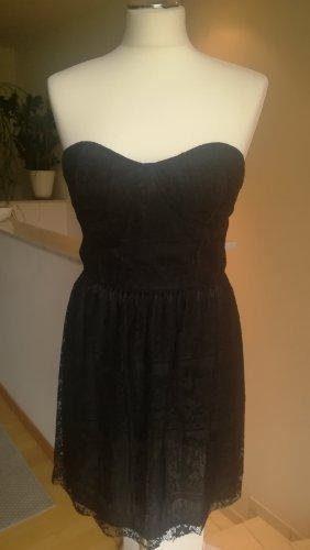 Amisu Vestido corsage negro tejido mezclado