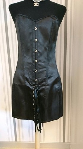 Corsage noir tissu mixte