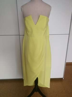 H&M Corsage Dress yellow