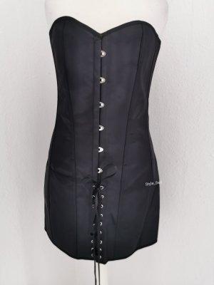 Corsagen-Kleid Satin Schnürung Gothic Minikleid Corsagenkleid