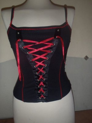 Corsage Top black-red mixture fibre