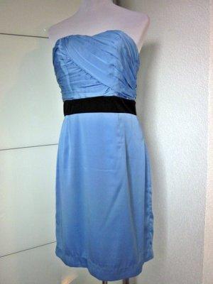 H&M Sukienka z dekoltem typu bandeau czarny-chabrowy