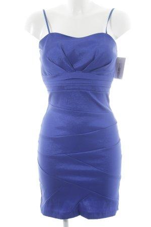 Vestido corsage azul Elementos metálicos