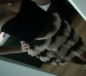 H&M Vestido corsage negro-rosa