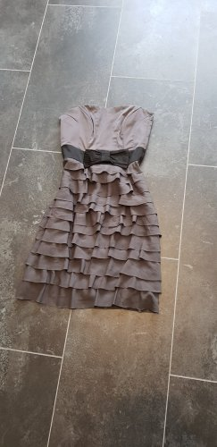 H&M Sukienka z gorsetem czarny-szary