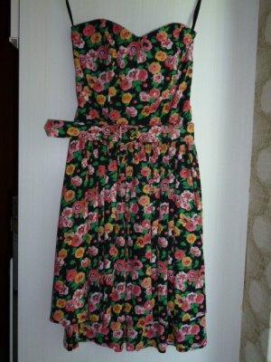 Robe à corsage multicolore coton