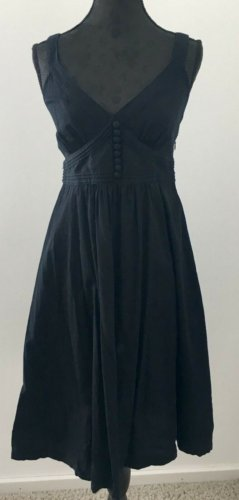 H&M A Line Dress black mixture fibre