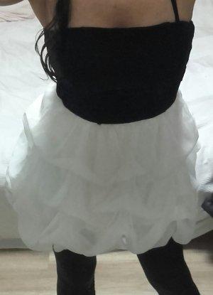 Corsagenkleid schwarz-weiß S