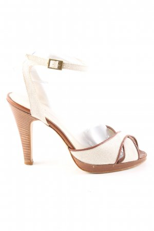 Corso Como High Heel Sandaletten wollweiß-braun Casual-Look