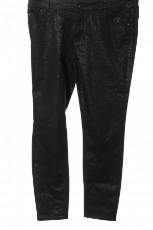 Cortefiel 7/8 Length Trousers black animal pattern casual look