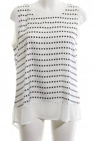 Cortefiel Blouse Top white-black allover print casual look