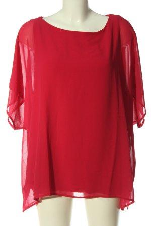Cortefiel Kurzarm-Bluse rot Casual-Look