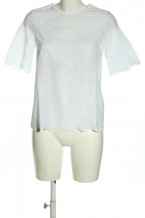Cortefiel Short Sleeved Blouse white casual look