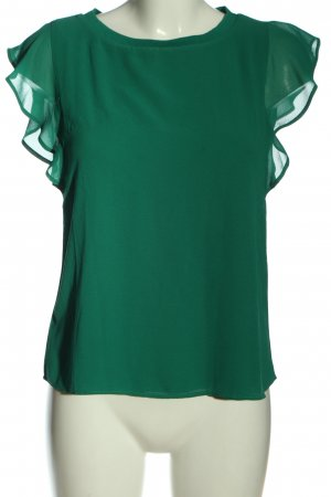 Cortefiel Short Sleeved Blouse green casual look