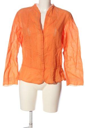 Cortefiel Long Sleeve Blouse light orange casual look