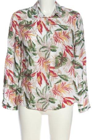 Cortefiel Long Sleeve Shirt flower pattern casual look