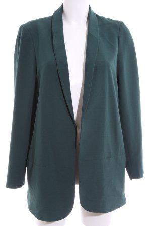 Cortefiel Long-Blazer blau Business-Look