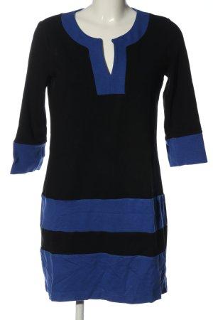 Cortefiel Mini Dress black-blue striped pattern casual look