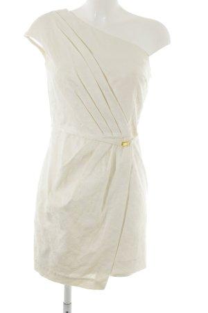 Cortefiel One-Shoulder-Kleid creme Elegant