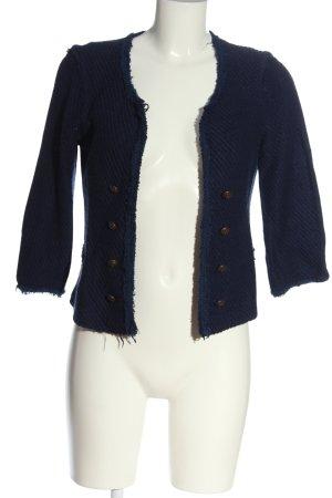 Cortefiel Tweed Blazer blue casual look