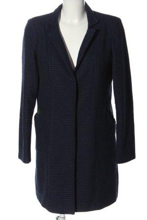 Cortefiel Between-Seasons-Coat blue-black check pattern business style