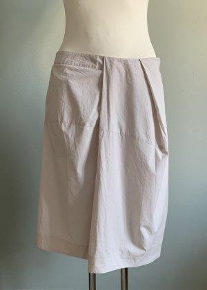 COS Wraparound Skirt oatmeal cotton